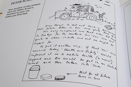 Drawings and Handwritten messages personalise this album