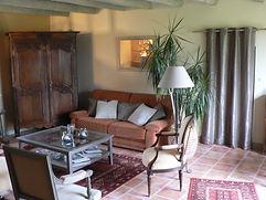 Salon partagé chambres d'hotes du paillé