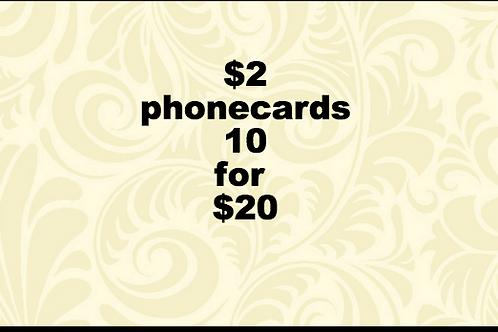 $2 phonecards