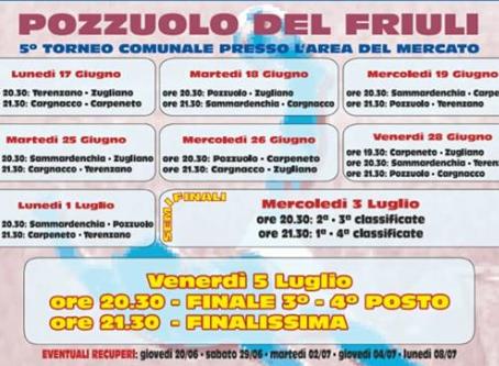 Venerdì 05/07/2019: Finalissima del torneo frazionale