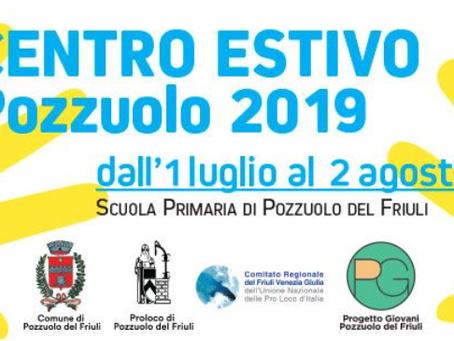 PG Pozzuolo: Centro estivo 2019