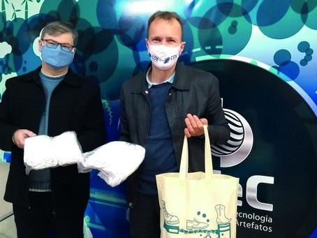 IBTeC doa 1.000 máscaras para CDL e Sindilojas