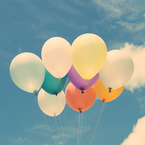 Canva - Lots of Colorful Balloons on the