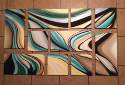 Wavy Lines Abstract