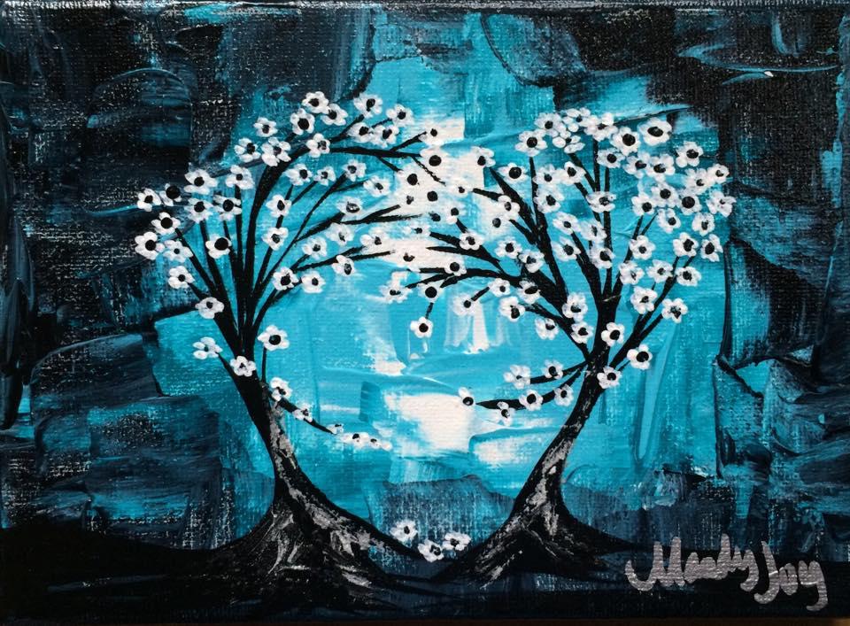 Little Blue Heart Trees