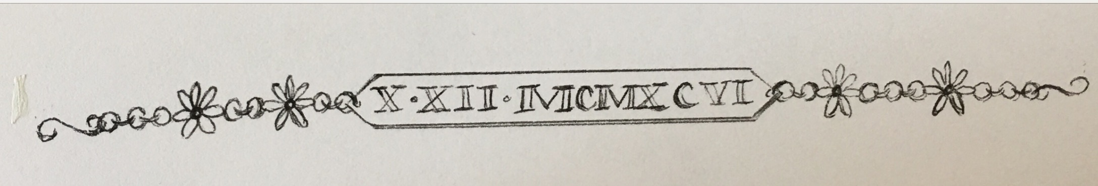 Roman Numerals Bracelet Tattoo