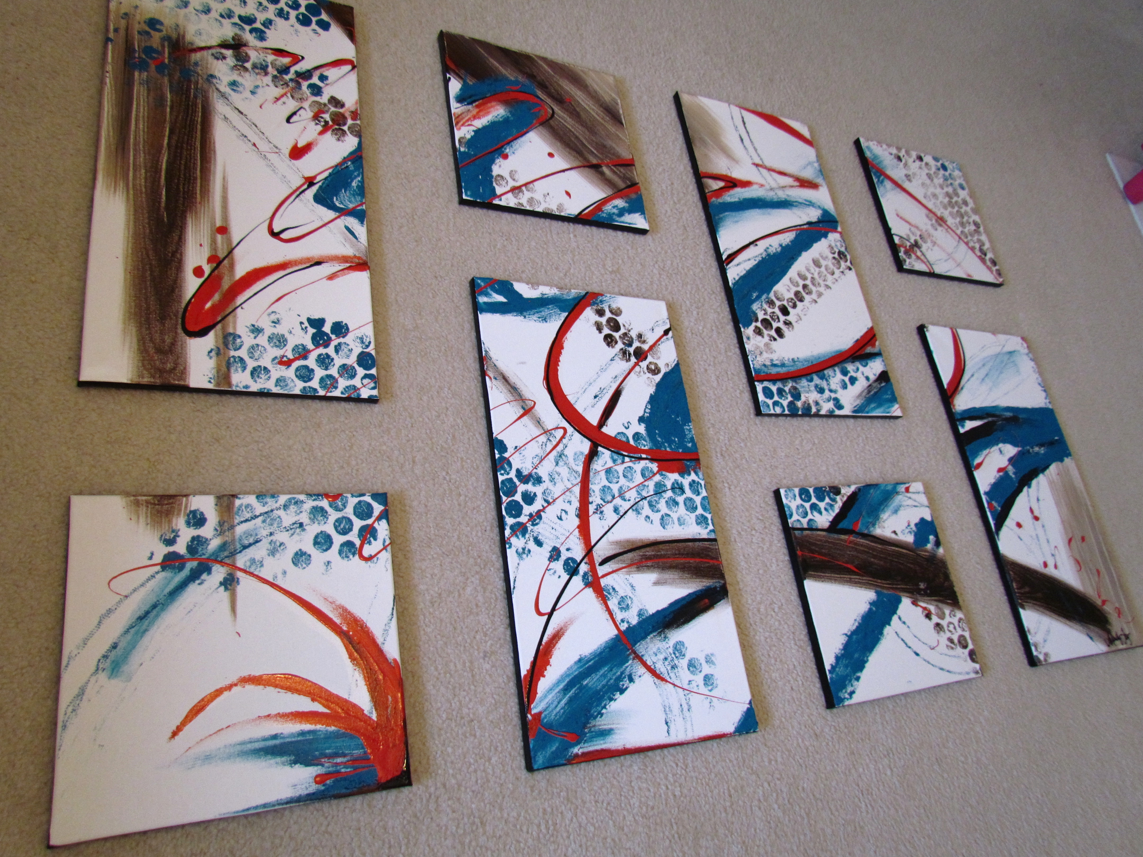 Jasmine Abstract 8 Piece