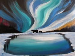 Polar Bear Aurora