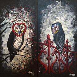 Glow in the dark owls