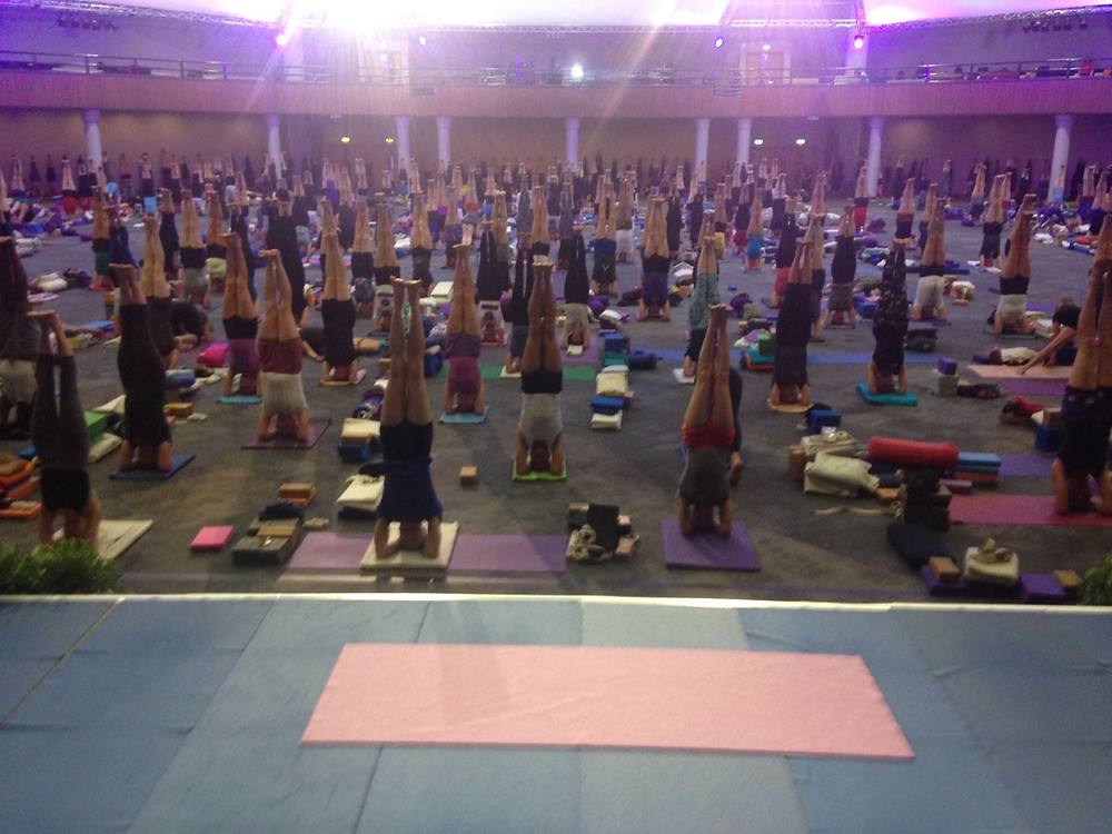 Iyengar Yoga practitioners at the ICC Birmingham, 29th May