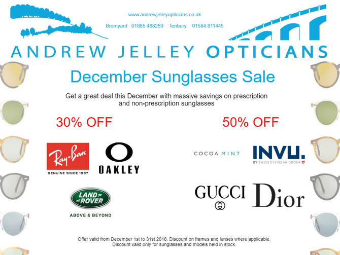 December Sunglasses Sale!