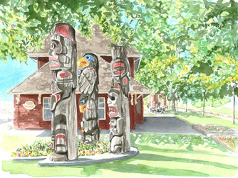 Totems at the E&N