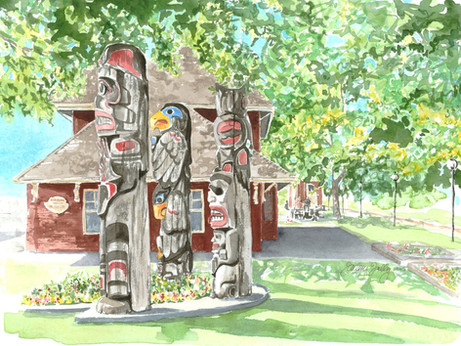 Totems at the E&N Station