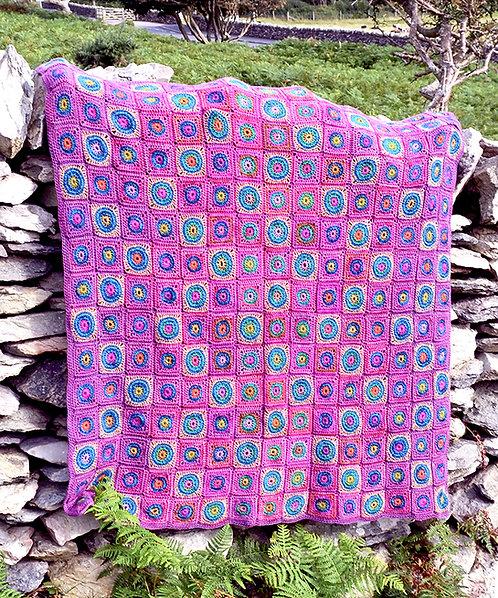 Foxgloves - Crochet Blanket PDF Pattern