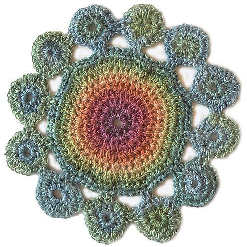 Small Handmade Crochet Mandala 8