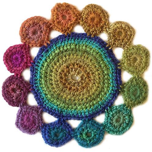 Small Handmade Crochet Mandala