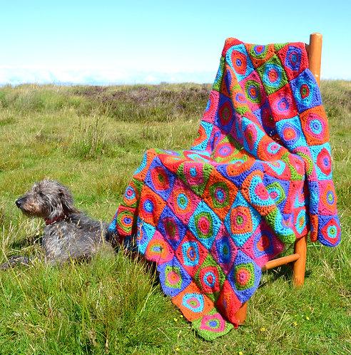 Harlequin - Crochet Blanket PDF Pattern