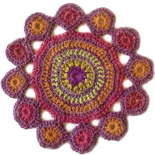 Small Handmade Crochet Mandala 2