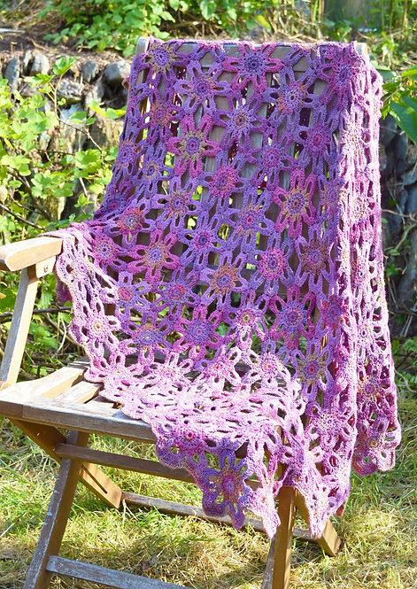 Marsh Violet  - Crochet Blanket PDF Pattern