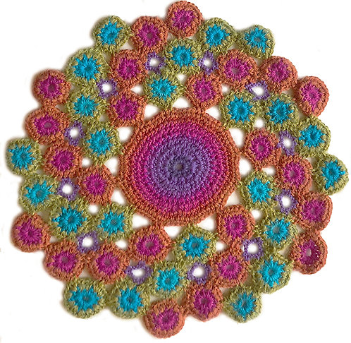 Medium Handmade Crochet Mandala 3