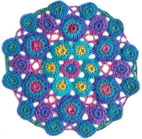 Medium Handmade Crochet Mandala 5