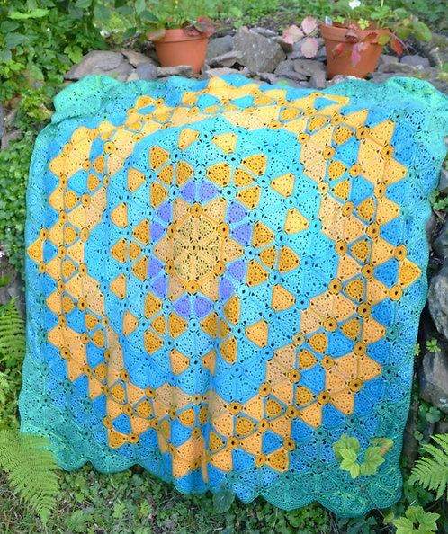 Cote de Lynmouth - Crochet Blanket PDF Pattern