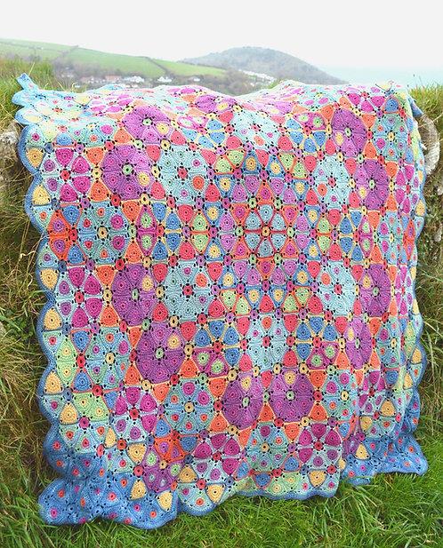 Kaleidoscope - Crochet Blanket PDF Pattern
