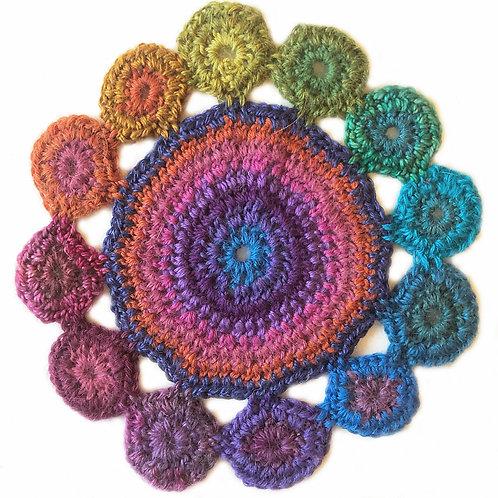 Small Handmade Crochet Mandala 12