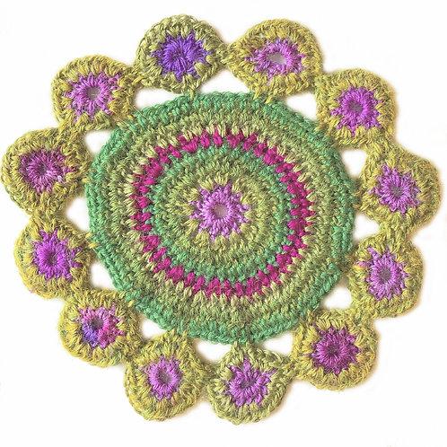 Small Handmade Crochet Mandala 24
