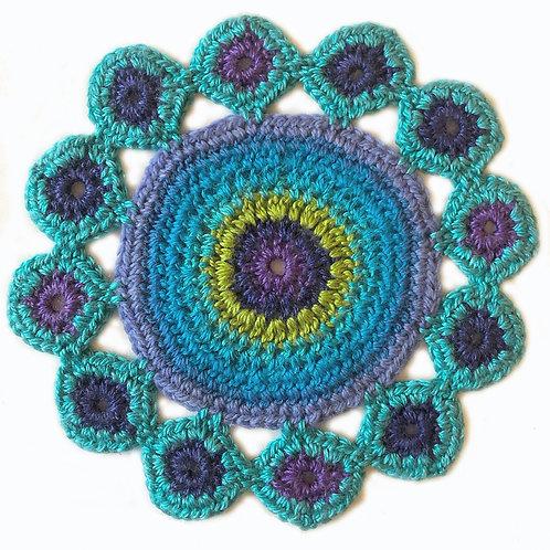 Small Handmade Crochet Mandala 13
