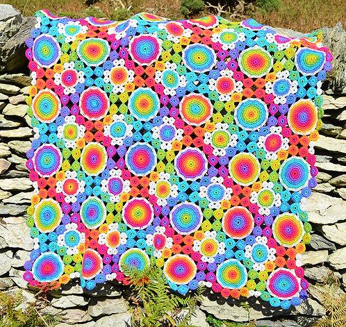 Windmills Handmade Crochet Blanket