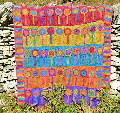 Lollipop Trees Handmade Crochet Blanket