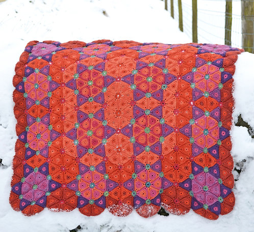 Florence - Crochet Blanket PDF Pattern