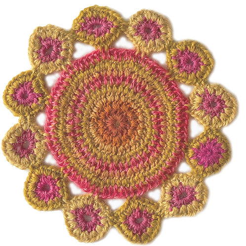 Small Handmade Crochet Mandala 22
