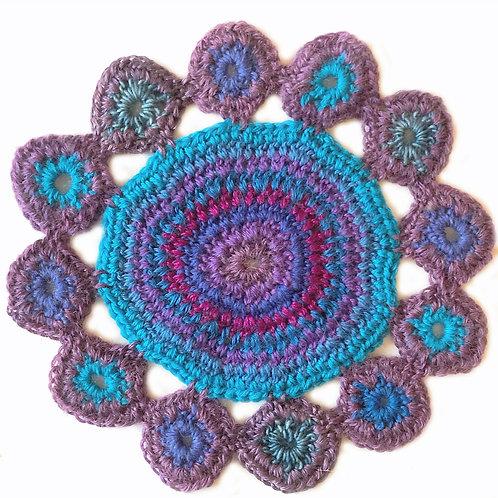 Small Handmade Crochet Mandala 17