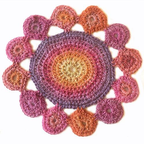 Small Handmade Crochet Mandala 19