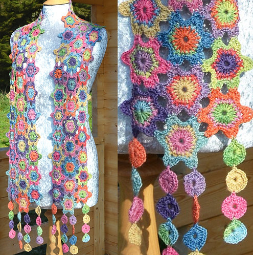 Lula  - Crochet Scarf PDF Pattern