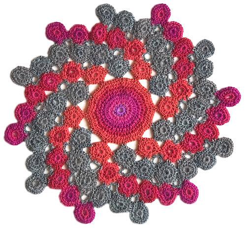 Medium Handmade Crochet Mandala 11