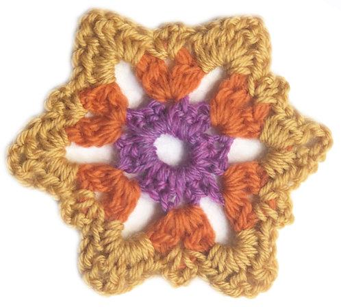 Crab Apple Crochet Motif PDF Pattern