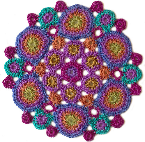 Medium Handmade Crochet Mandala 6
