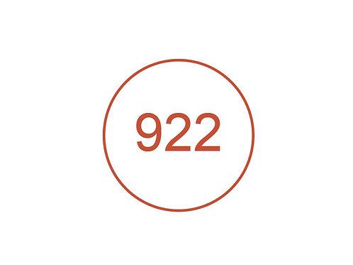 Número 922
