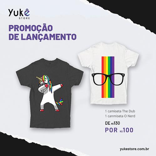 1 camiseta The Dub + 1 camiseta O Nerd