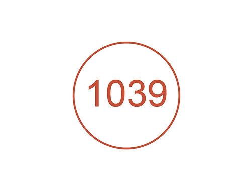 Número 1039