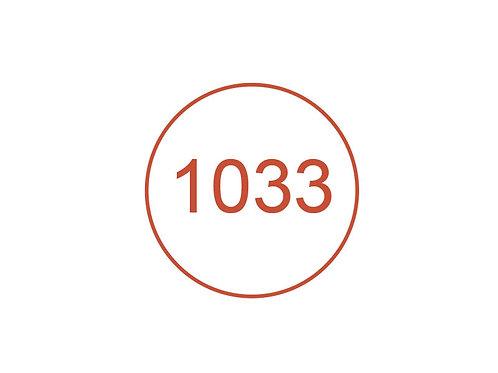 Número 1033