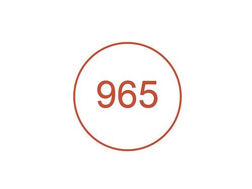 Número 965