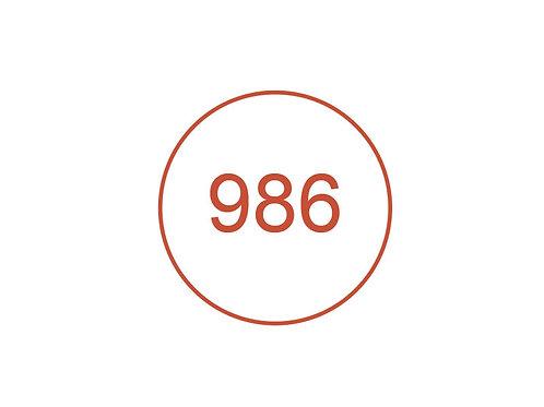 Número 986
