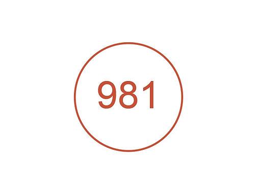 Número 981