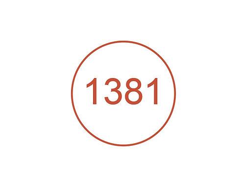 Número 1381