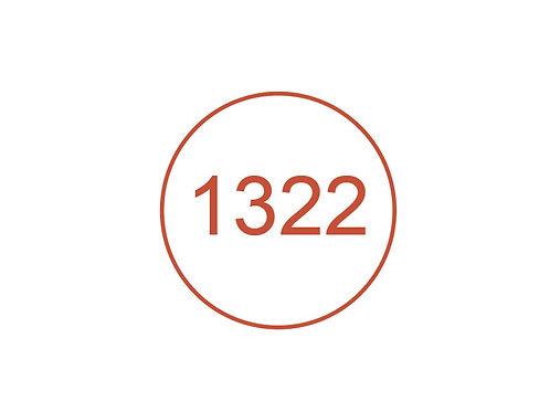 Número 1322