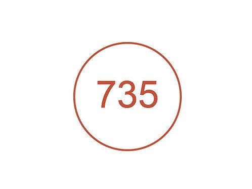 Número 735